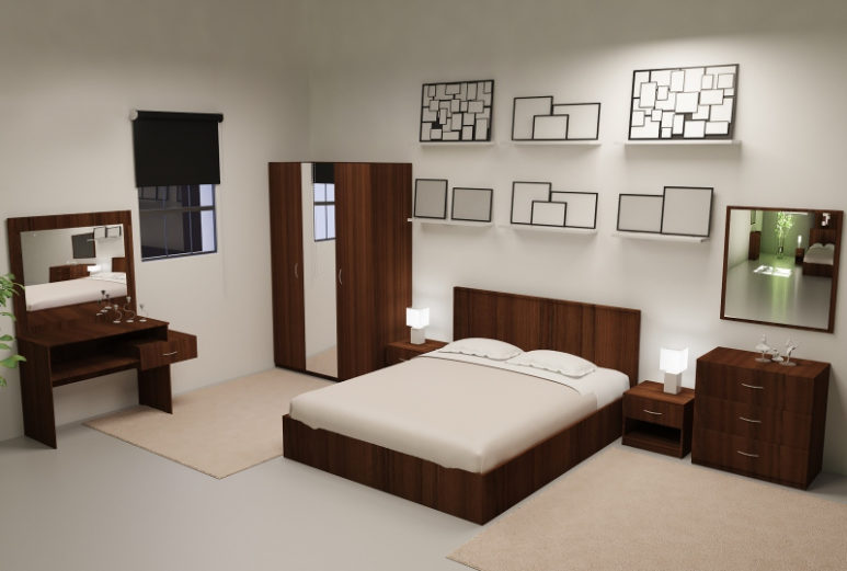 Спальный гарнитур Корсика б/м 3D