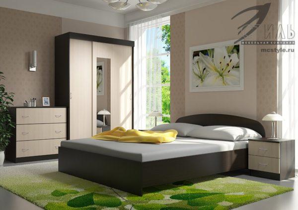 Спальный гарнитур Рио 2 1 <h3><strong>Уточняйте наличие и цену перед покупкой</strong></h3> <h4>Доставка от 1-3 дней</h4>